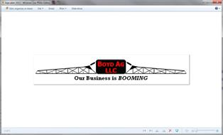 BOYD AG LLC OUR BUSINESS IS BOOMING