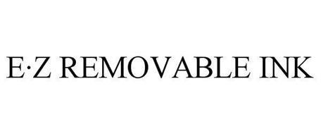 E·Z REMOVABLE INK