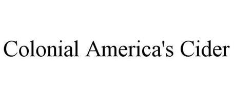 COLONIAL AMERICAS CIDER