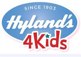 SINCE 1903 HYLAND'S 4KIDS