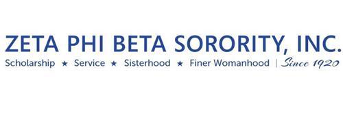 ZETA PHI BETA SORORITY, INC. SCHOLARSHIP SERVICE SISTERHOOD FINER WOMANHOOD SINCE 1920