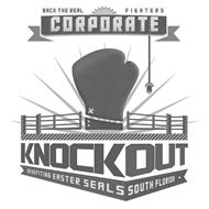 BACK THE REAL FIGHTERS CORPORATE KNOCKOUT BENEFITING EASTER SEALS OF SOUTH FLORIDA.