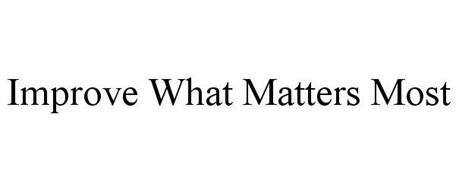 IMPROVE WHAT MATTERS MOST