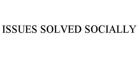 ISSUES SOLVED SOCIALLY