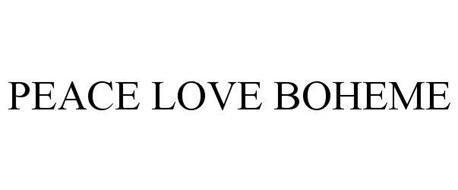 PEACE LOVE BOHEME
