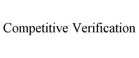 COMPETITIVE VERIFICATION