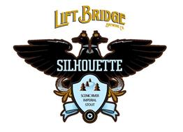 SILHOUETTE SCENIC RIVER IMPERIAL STOUT LIFT BRIDGE BREWING CO.