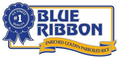U.S. FINEST QUALITY #1 BLUE RIBBON ENRICHED GOLDEN PARBOILED RICE