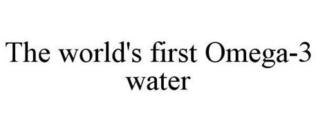 THE WORLD'S FIRST OMEGA-3 WATER