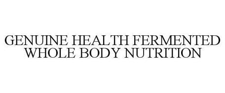 GENUINE HEALTH FERMENTED WHOLE BODY NUTRITION
