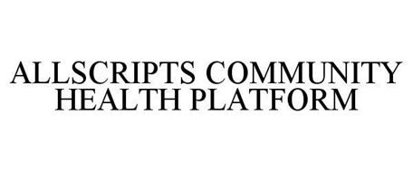 ALLSCRIPTS COMMUNITY HEALTH PLATFORM
