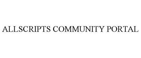 ALLSCRIPTS COMMUNITY PORTAL
