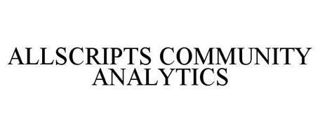 ALLSCRIPTS COMMUNITY ANALYTICS
