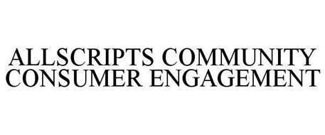 ALLSCRIPTS COMMUNITY CONSUMER ENGAGEMENT