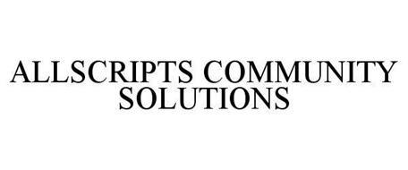 ALLSCRIPTS COMMUNITY SOLUTIONS