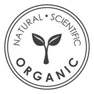 NATURAL · SCIENTIFIC ORGANIC