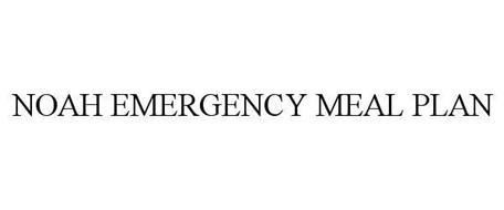 NOAH EMERGENCY MEAL PLAN