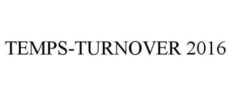 TEMPS TURNOVER - 2016