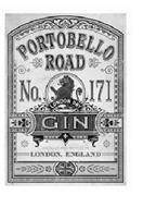 PORTOBELLO ROAD NO. 171 LONDON DRY GIN DISTILLED AND BOTTLED IN LONDON, ENGLAND