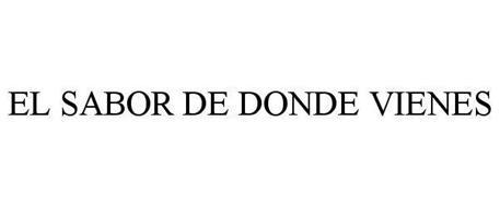 EL SABOR DE DONDE VIENES
