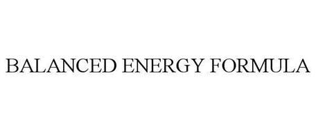 BALANCED ENERGY FORMULA