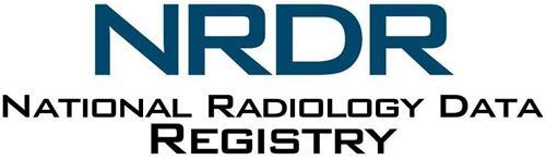 NRDR NATIONAL RADIOLOGY DATA REGISTRY