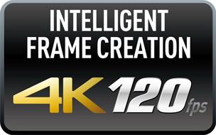 INTELLIGENT FRAME CREATION 4K 120FPS