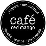 CAFÉ RED MANGO YOGURT · SMOOTHIES SALADS · WRAPS · FLATBREADS