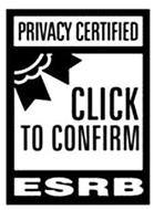 PRIVACY CERTIFIED CLICK TO CONFIRM ESRB