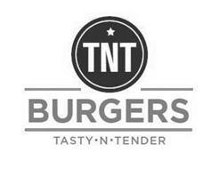 TNT BURGERS TASTY · N · TENDER