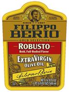 IMPORTED FROM ITALY F. PO BERIO & CO. LUCCA TRADE MARK ALL NATURAL COLD PRESSED SINCE 1867 FILIPPO BERIO GOLD SELECTION ROBUSTO BOLD, FULL-BODIED FLAVOR EXTRA VIRGIN OLIVE OIL FILIPPO BERIO