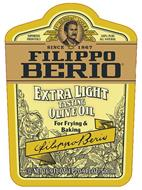 IMPORTED FROM ITALY F. PO BERIO & CO. LUCCA TRADE MARK 100% PURE ALL NATURAL SINCE 1867 FILIPPO BERIO EXTRA LIGHT TASTING OLIVE OIL FOR FRYING & BAKING FILIPPO BERIO