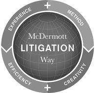 MCDERMOTT WAY LITIGATION EXPERIENCE + METHOD EFFICIENCY + CREATIVITY