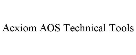 ACXIOM AOS TECHNICAL TOOLS