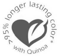 >95% LONGER LASTING COLOR* WITH QUINOA