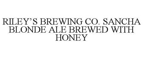 RILEY'S BREWING CO. SANCHA BLONDE ALE BREWED WITH HONEY