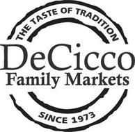 THE TASTE OF TRADITION DECICCO FAMILY MARKETS SINCE 1973