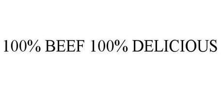 100% BEEF 100% DELICIOUS