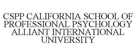 CSPP CALIFORNIA SCHOOL OF PROFESSIONAL PSYCHOLOGY ALLIANT INTERNATIONAL UNIVERSITY