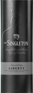 THE SINGLETON SINGLE MALT SCOTCH WHISKY OF GLENDULLAN PRODUCT OF SCOTLAND RESERVE COLLECTION LIBERTY A VIBRANT SINGLE MALT SCOTCH WHISKY PERSONALLY CREATED BY OUR MASTER OF MALTS FOR A SMOOTH, RICH AND ROUNDED TASTE EXPERIENCE 1LITRE 40%VOL