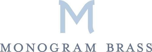 M MONOGRAM BRASS