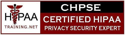 HIPAA TRAINING.NET CHPSE CERTIFIED HIPAA PRIVACY SECURITY EXPERT