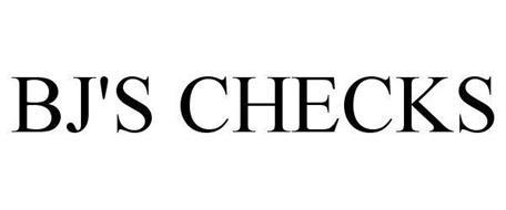 BJ'S CHECKS