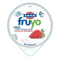 FAGE #1 YOGURT IN GREECE FAGE FRUYO GREEK NONFAT STRAINED YOGURT BLENDED WITH STRAWBERRY ALL NATURAL