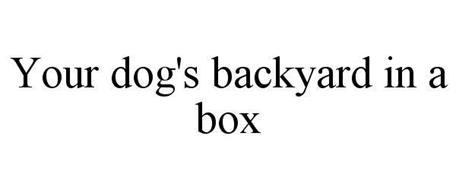 YOUR DOG'S BACKYARD IN A BOX