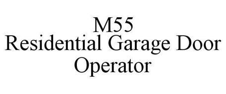 M55 RESIDENTIAL GARAGE DOOR OPERATOR