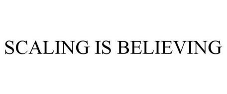 SCALING IS BELIEVING