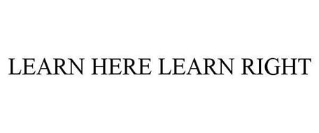 LEARN HERE LEARN RIGHT