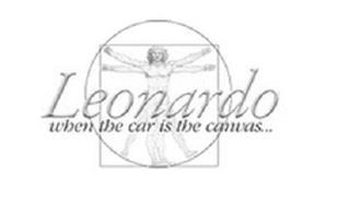 LEONARDO WHEN THE CAR IS THE CANVAS...