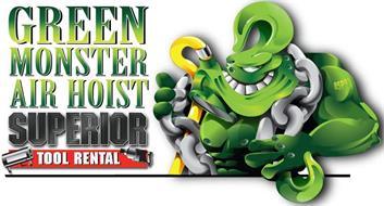 GREEN MONSTER AIR HOIST SUPERIOR TOOL RENTAL 85PSI